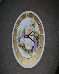 Часы настенные с ручной росписью